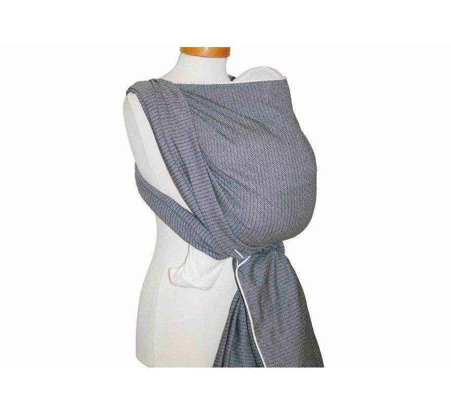 Woven wrap Storchenwiege Leo black-white, 100% cotton woven wrap.
