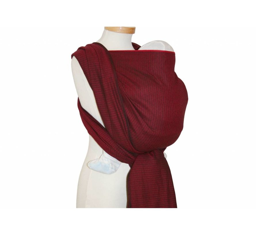 Woven wrap Storchenwiege Leo Bordeaux, 100% cotton woven wrap.