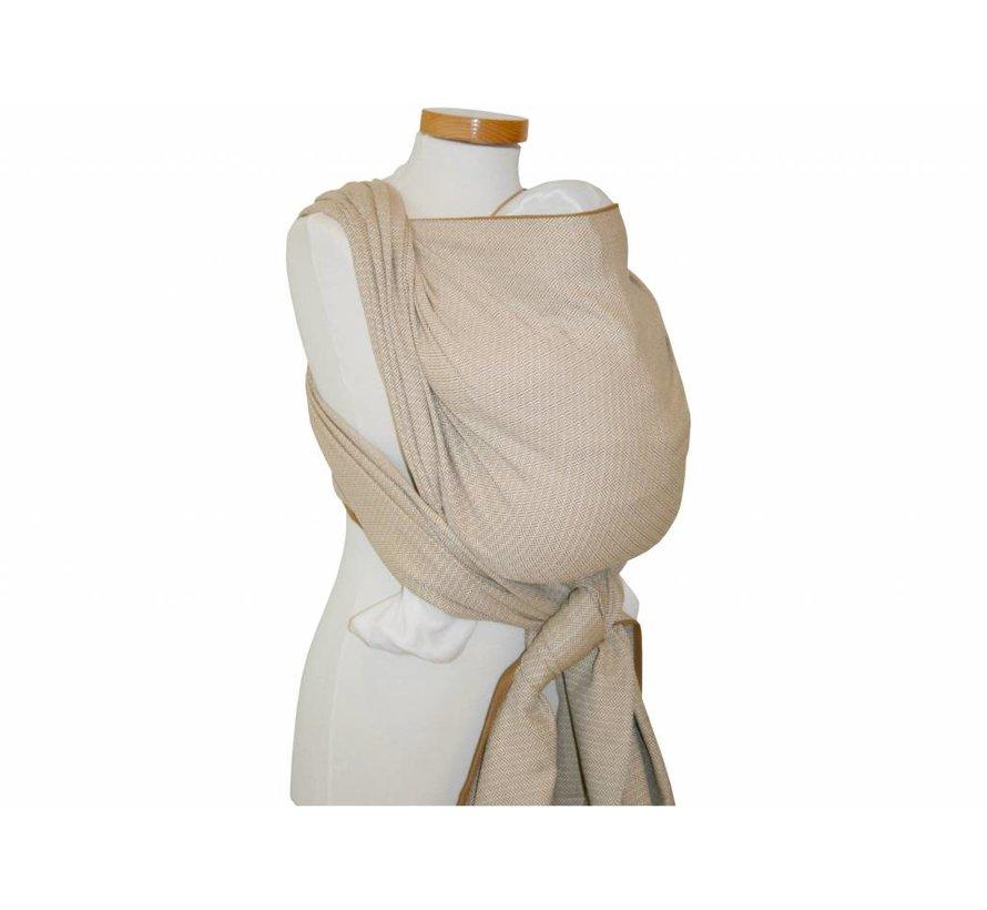 Woven wrap Storchenwiege Leo Nature, 100% cotton woven wrap.