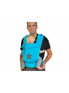 Bondolino Bondolino Draagzak Bondolino Poplin Turkis star Turquoise ster