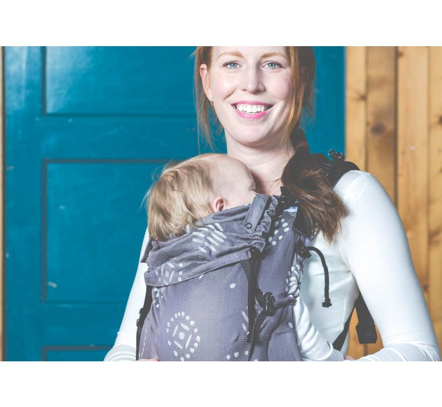 Pure baby love Happiness Grey  babycarrier