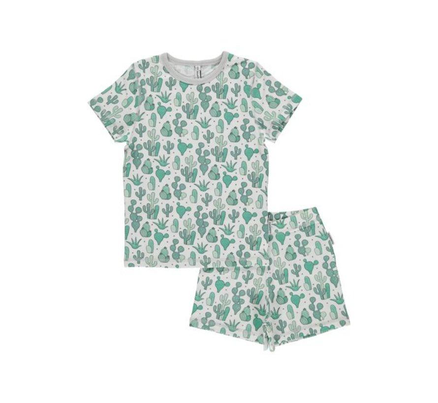 Maxomorra Pyjama Set SS CACTUS GARDEN