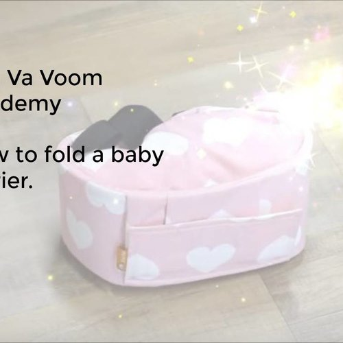 How to fold a baby carrier?