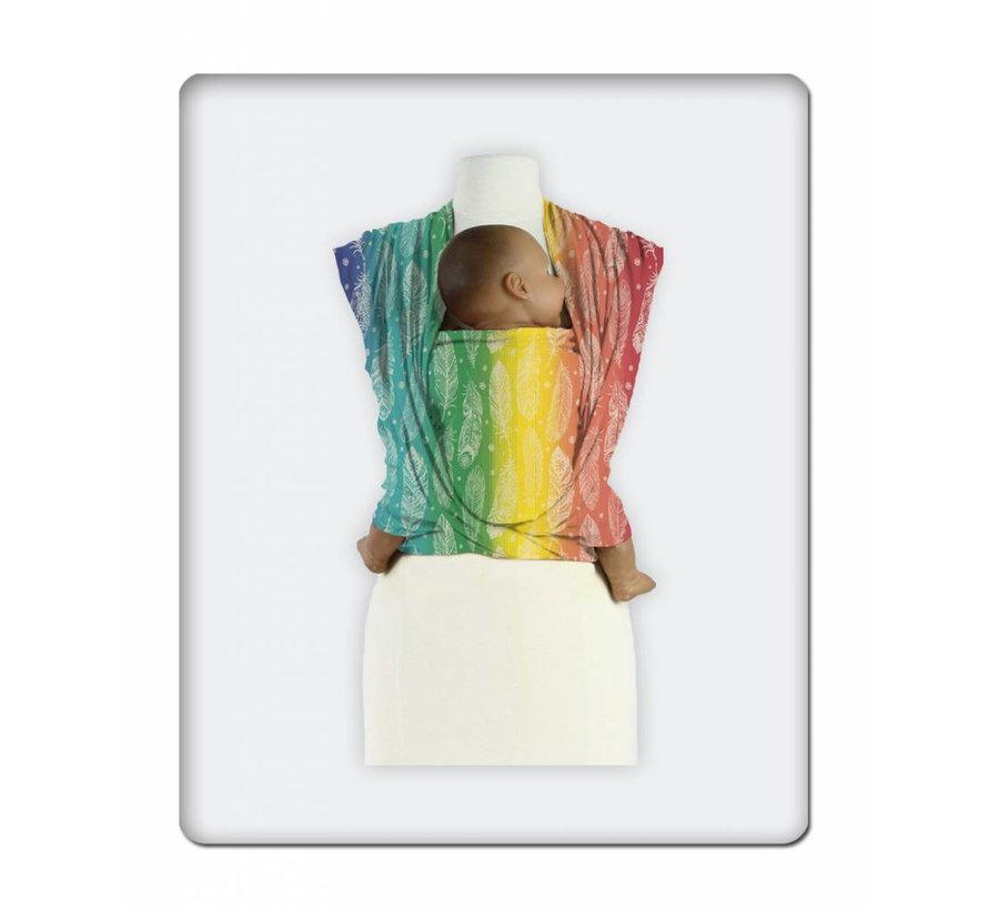 Mam Baby Wrap Feather Rainbow Cream