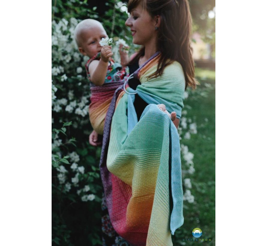 Little frog Lovely linen Rainbow ringsling