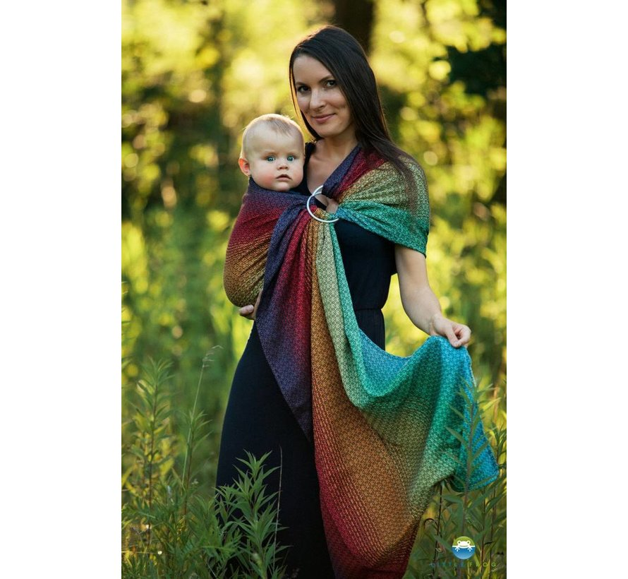 Little frog Lovely Black Rainbow ringsling
