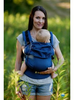 Little Frog Little Frog carrier Navy Blue Herringbone