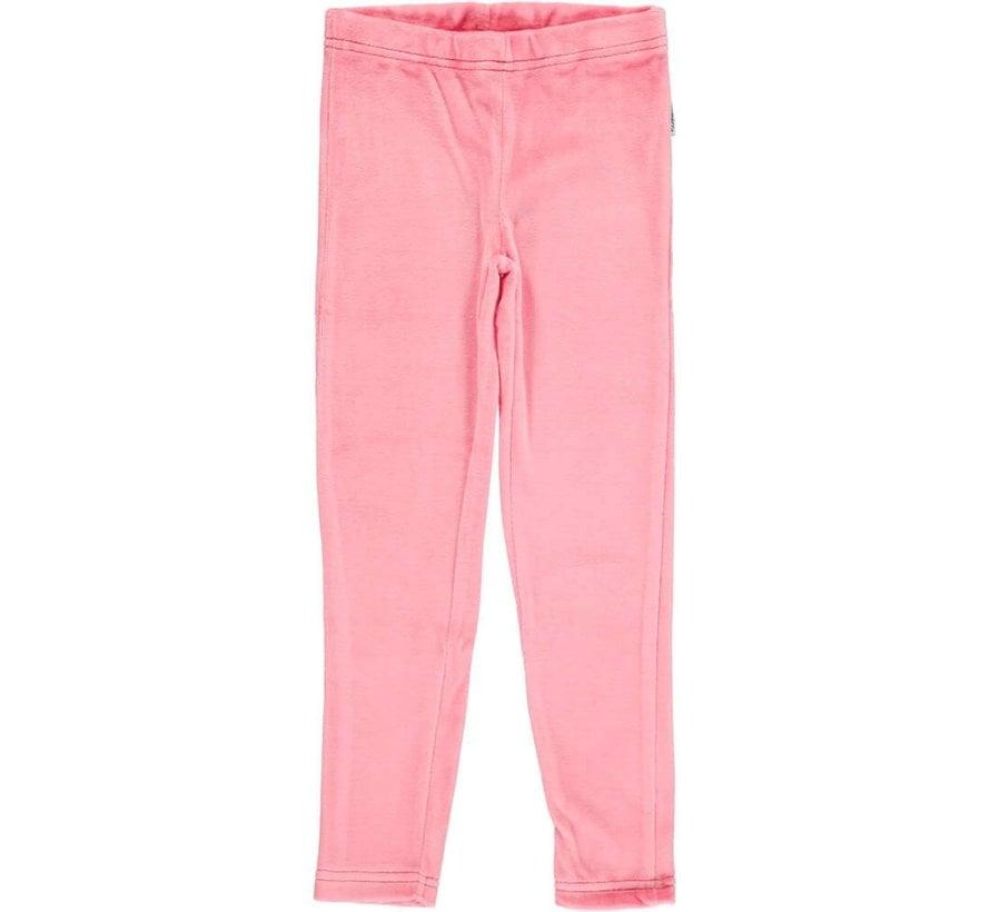 Maxomorra Leggings Velour ROSE PINK