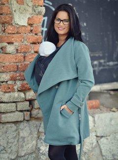 Angel Wings  PRE ORDER Woolen babywearing coat green grey