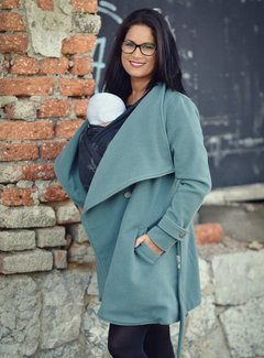 Angel Wings  Woolen babywearing coat green grey