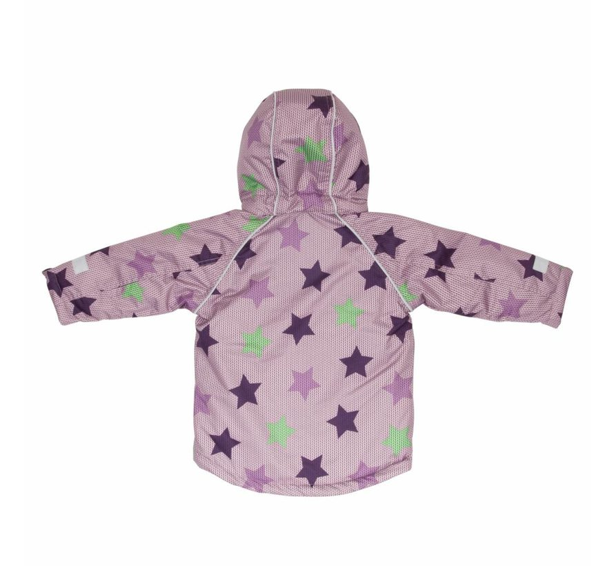 Villervalla WINTER JACKET  STAR PRINT   ORCHID