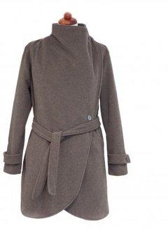 Angel Wings  PRE ORDER Woolen babywearing coat green brown