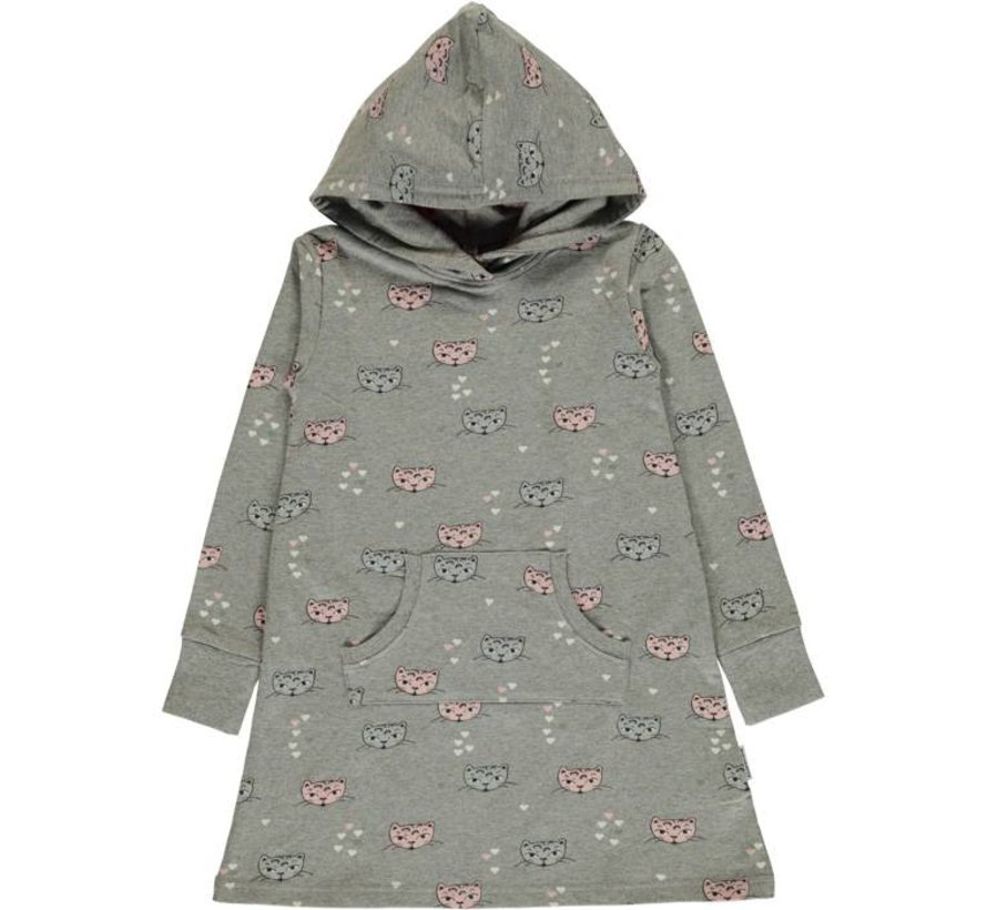 Maxomorra Dress Hoodie Sweat KITTY CAT