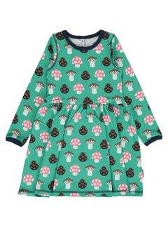 Maxomorra Maxomorra Dress Spin LS MUSHROOM