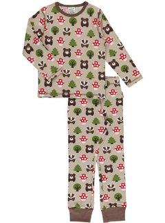 Maxomorra Maxomorra Pyjama Set LS FOREST