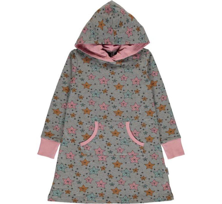 Maxomorra Dress Hoodie Sweat NIGHT SPARKLE