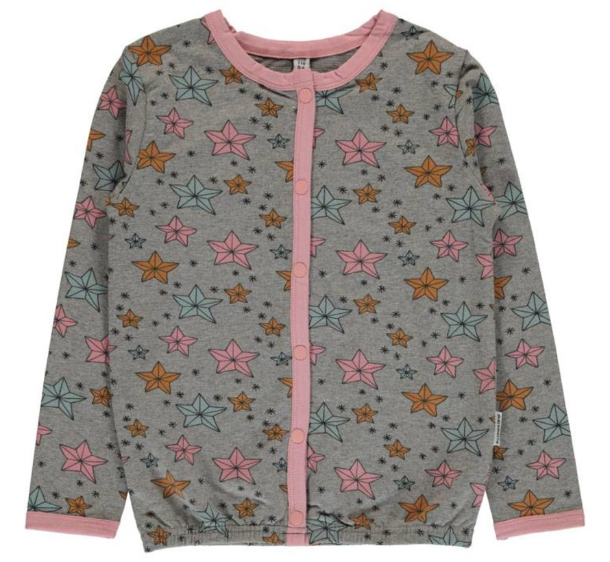Maxomorra Cardigan Button Sweat NIGHT SPARKLE
