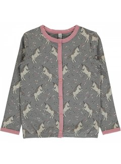Maxomorra Maxomorra Cardigan Button Sweat UNICORN DREAMS