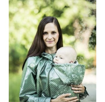 Angel Wings  Angel Wings Polka dot raincoat green
