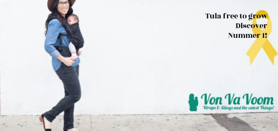 Tula free to grow Discover, nummer 1 draagzak grijs zwart vonvavoom