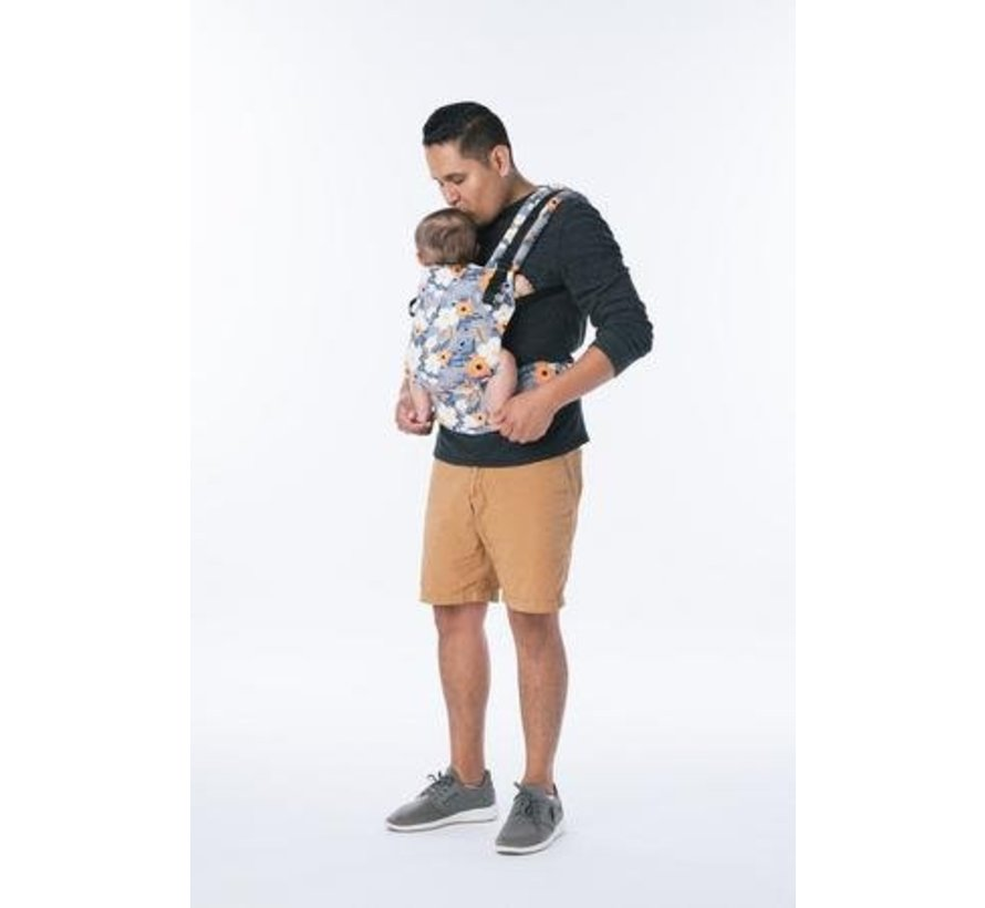 Tula Free to Grow French Marigold babycarrier.