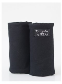 Isara teething pads all black