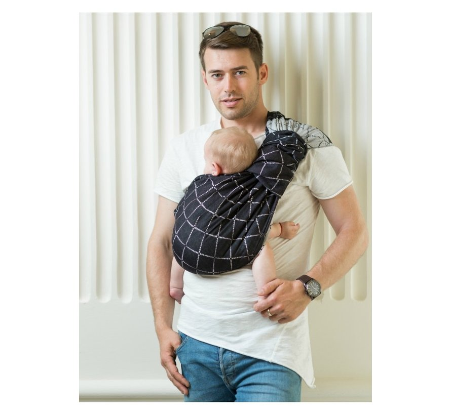 Isara ringsling Diamonda black denim