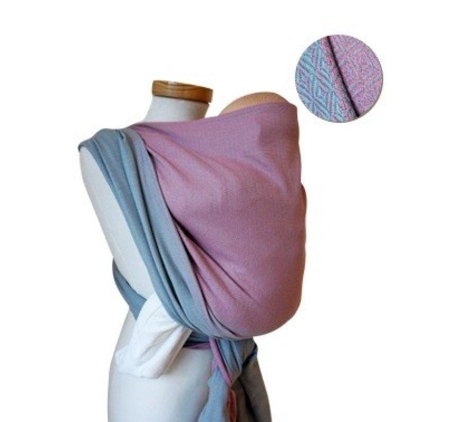 Storchenwiege Leo  duet rose grey, 100% cotton woven wrap.