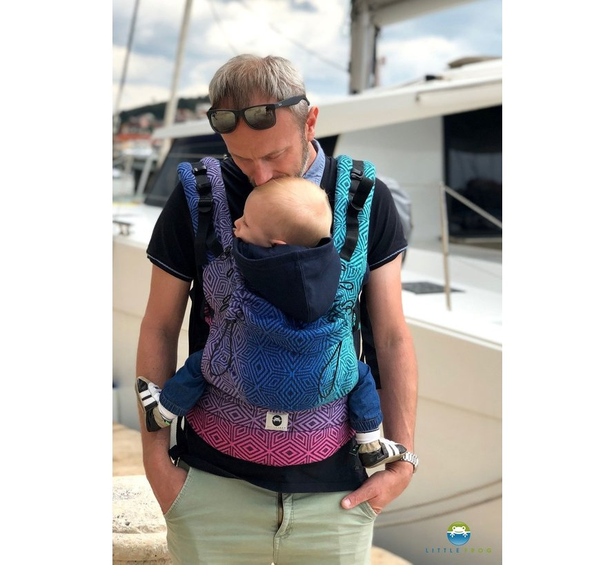 Little Frog baby carrier  Dark Aurora Cube