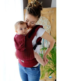 Little Frog Little Frog carrier Ruby Herringbone