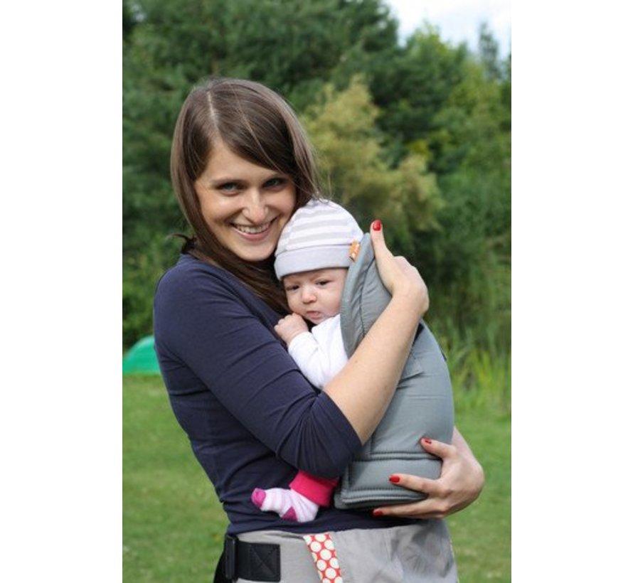 Tula infant insert grijs, verkleiner voor de Tula draagzak.