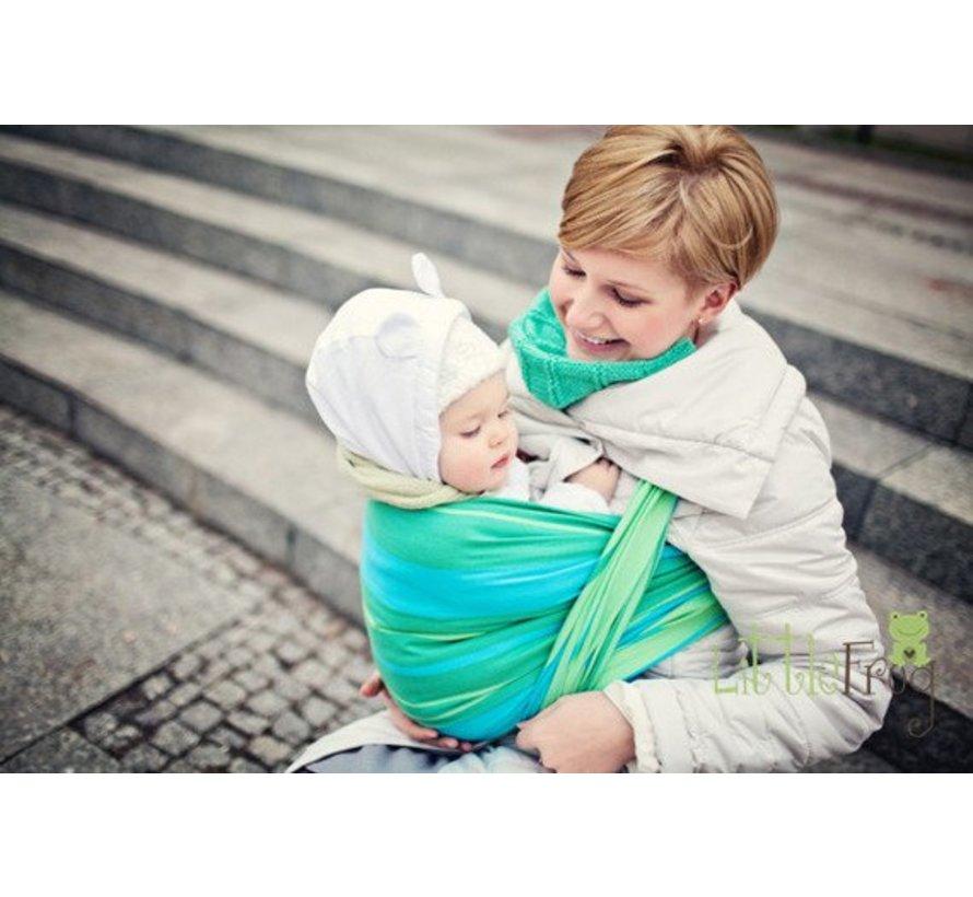 Beautiful woven wrap Little Frog Turquoise