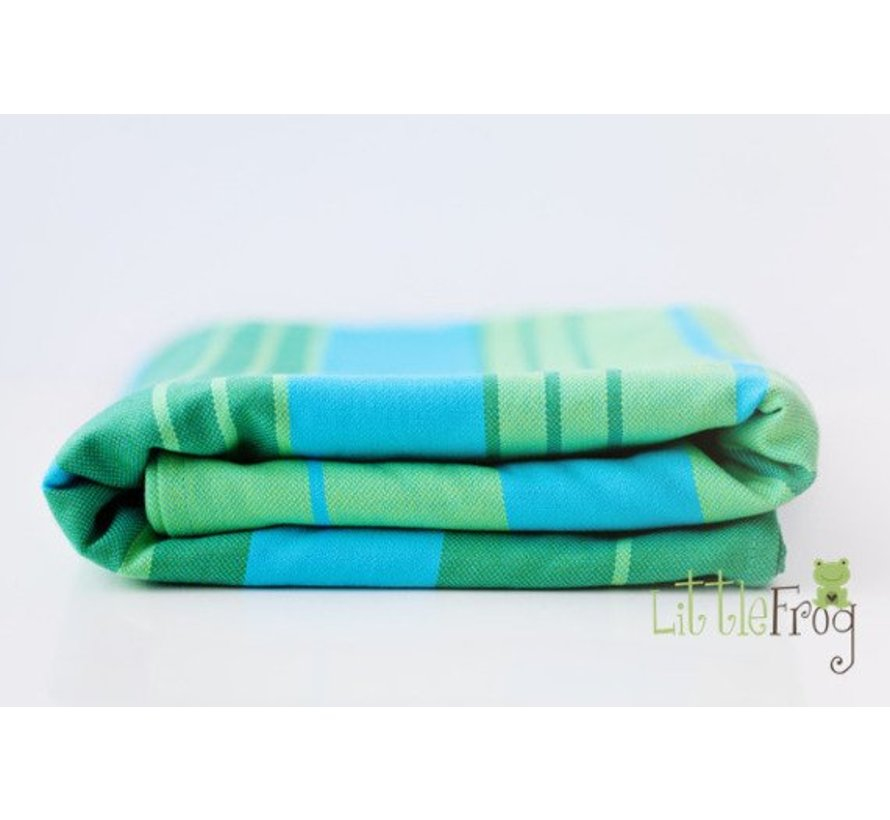 Beautiful woven wrap Little Frog Turquoise