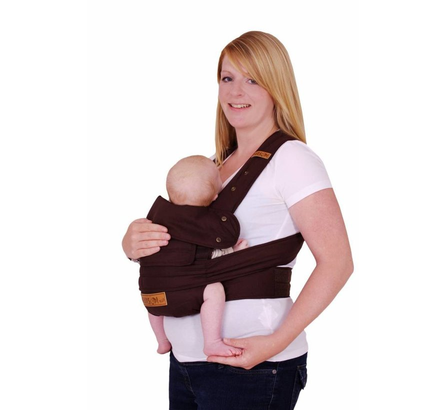Marsupi Chocolat Brown Baby Carrier With Velcro Closure Easy To Use