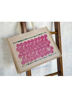 Oscha Oscha Oscha Eco Bag Roses Tourmaline tas