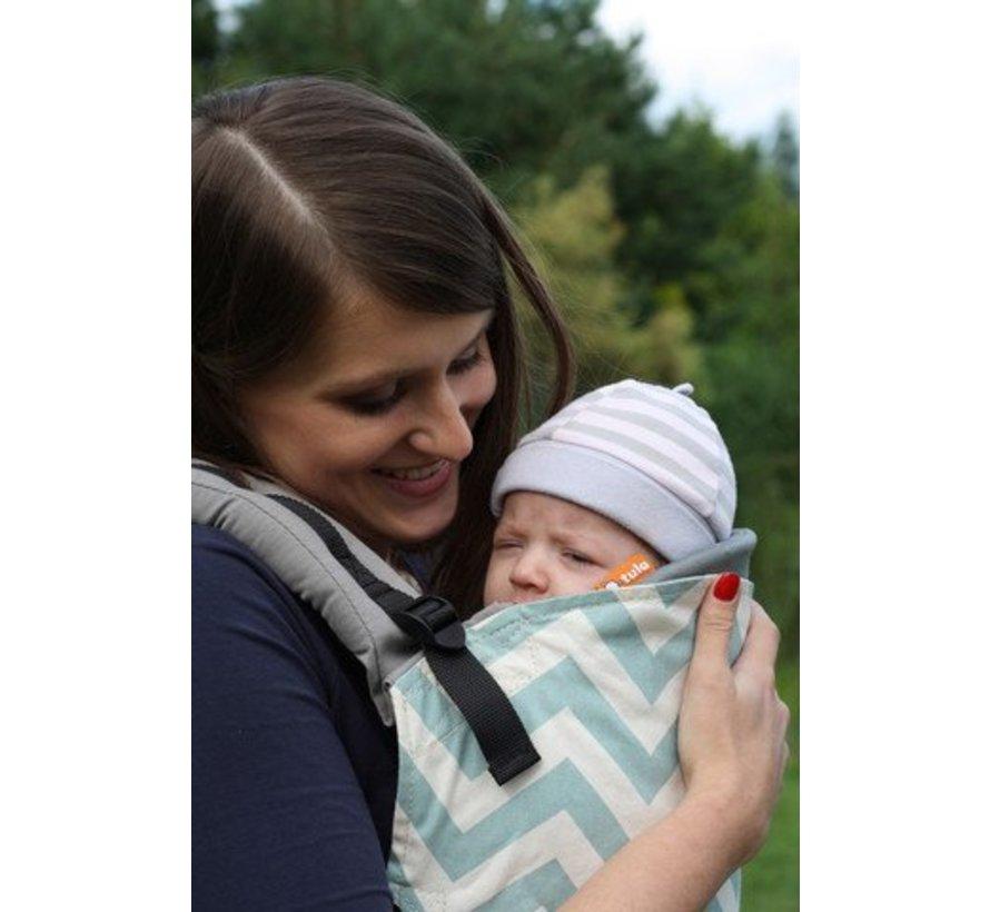 Tula infant insert zwart, verkleiner voor de tula draagzak.