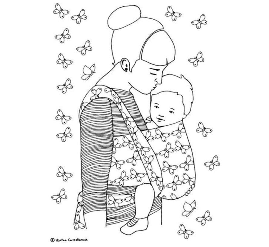 Babywearing coloringbook kleurboek