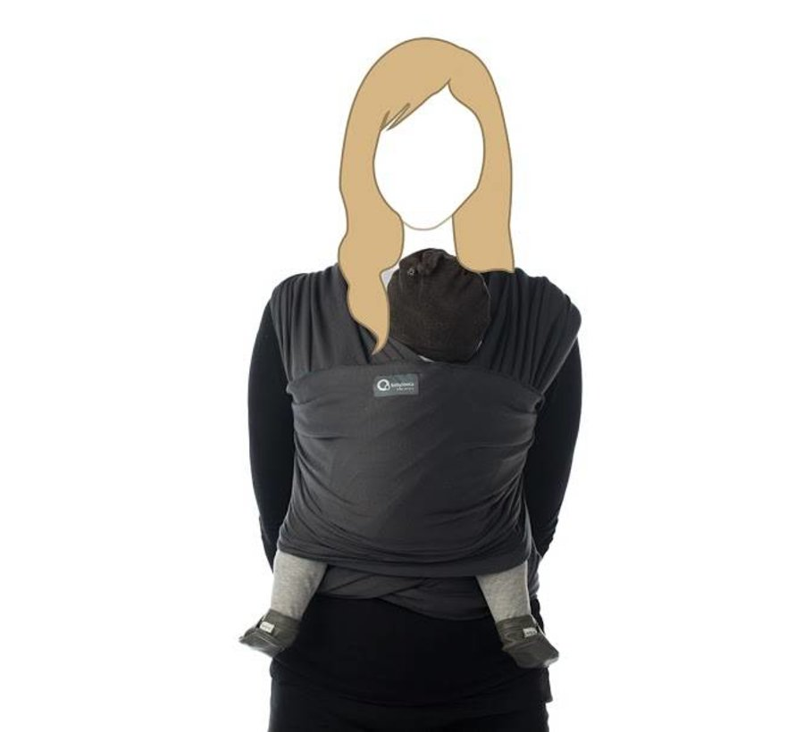 Tricot Slen dark grey, rekbare draagdoek.