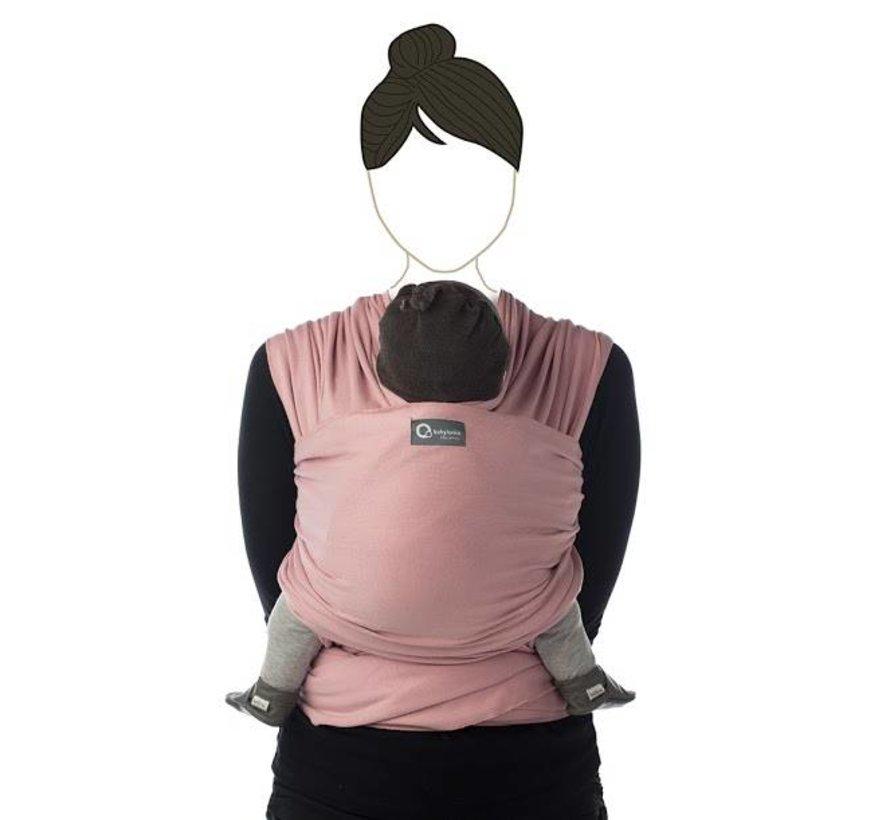 Tricot Slen soft pink, rekbare draagdoek.