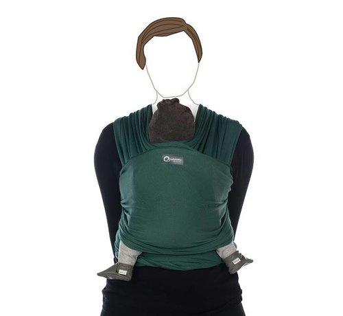 Babylonia Tricot Slen vintage green, stretchy sling.