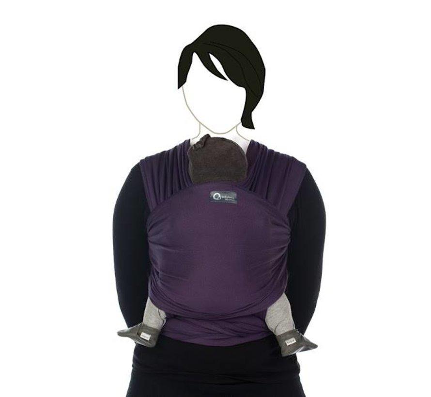 Tricot Slen deep purple, rekbare draagdoek.
