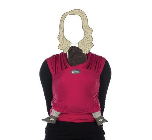 Babylonia Tricot Slen hot fuchsia, stretchy sling.