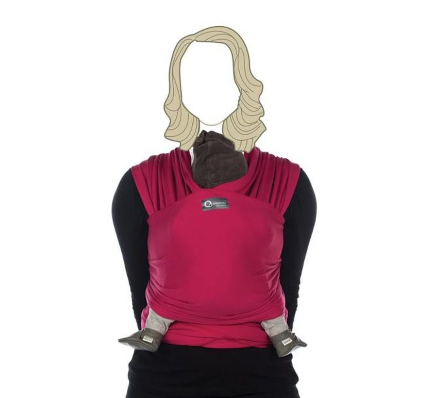 Tricot Slen hot fuchsia, stretchy sling.
