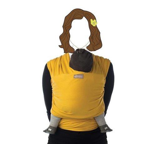 Babylonia Tricot Slen honey gold, stretchy sling.