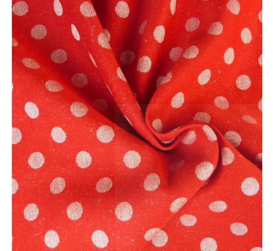 Didymos Red dots hemp, 50% cotton 50% hemp.