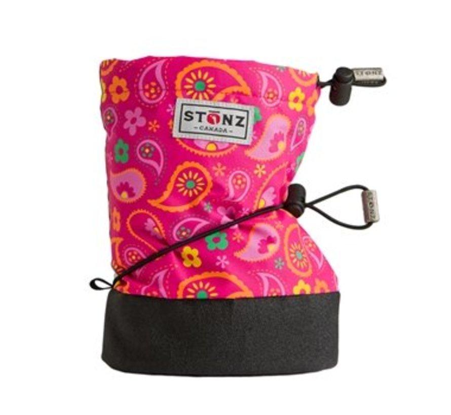 Booties Paisley Pink - Fuchsia