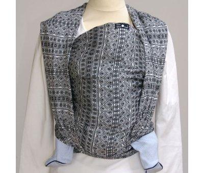 Didymos Didymos Prima black-white, woven wrap.