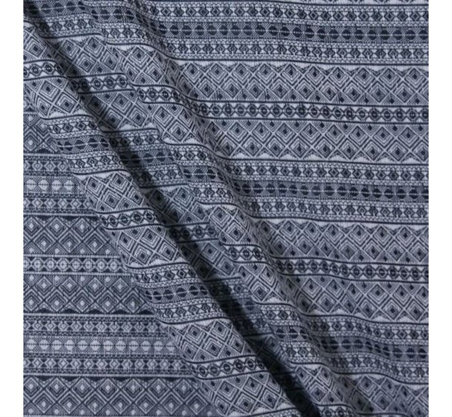 Didymos Prima black-white, woven wrap.