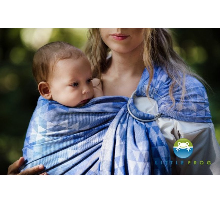 Little Frog Blue  Illusion ringsling