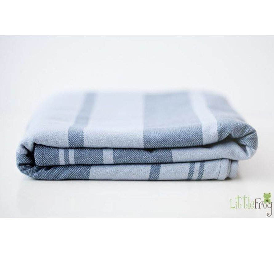 Woven baby wrap Little Frog Barite, all cotton.